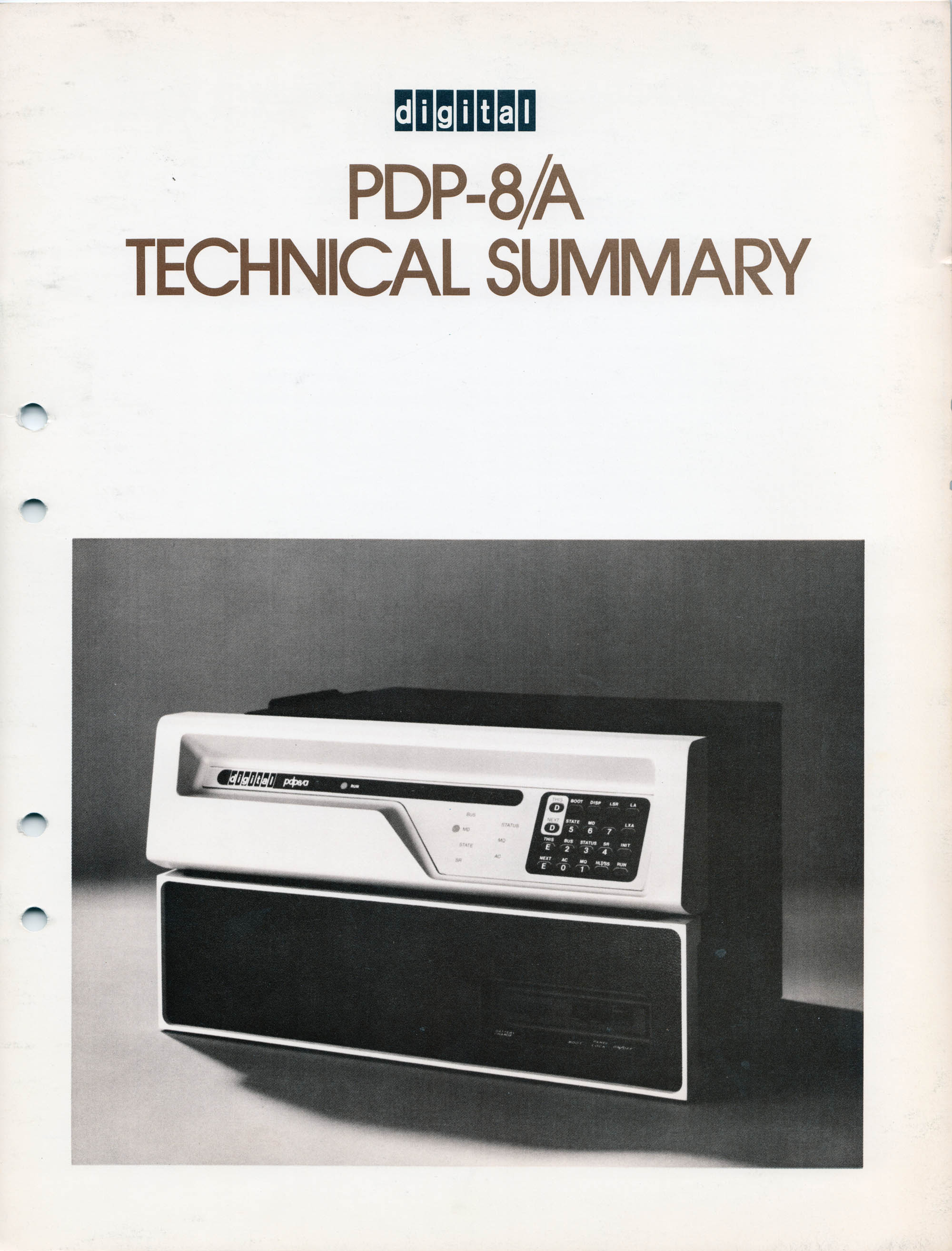 PDP-8/a Technical summary